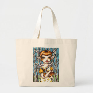 Deer Dorothy Large Tote Bag