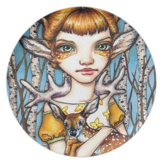 Deer Dorothy Plate