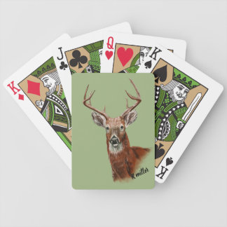 Deer drawing playing cards