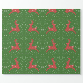 Deer Drawing X-mas Matte Wrapping Paper
