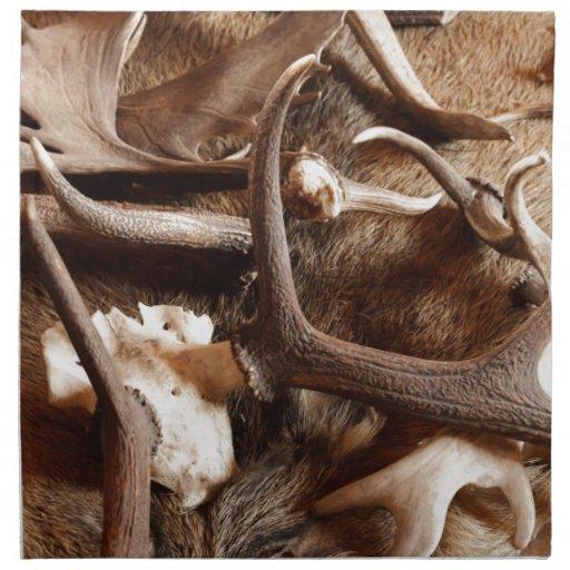 Deer Elk Moose Antlers Hunting Gift Ideas Hunters Printed Napkins