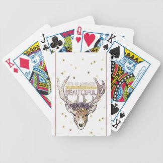 Deer Explorer Bicycle Playing Cards