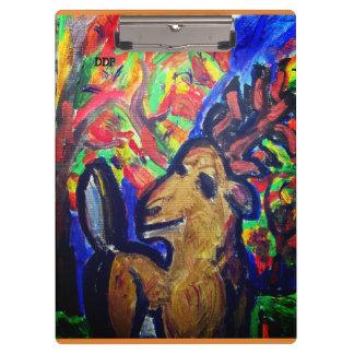deer fall art clipboard