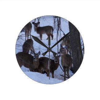 Deer Family Clock