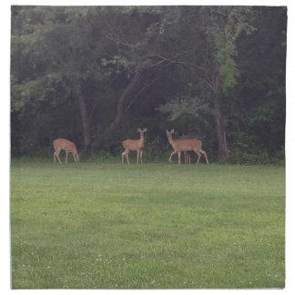 Deer Family Cloth Napkin