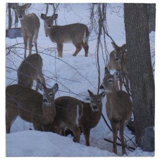 Deer Family Printed Napkin