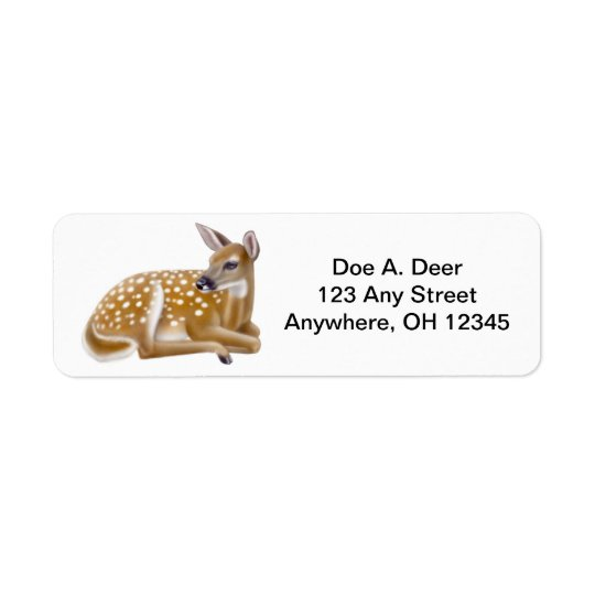 Deer Fawn Avery Label