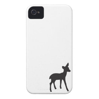 Deer fawn black white silhouette iPhone 4S case