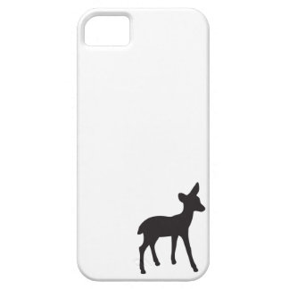Deer fawn black white silhouette kawaii cute iPhone 5 case