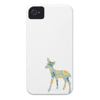 Deer fawn country pattern silhouette folk art case