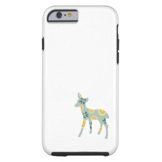 Deer fawn country pattern silhouette folk art case tough iPhone 6 case