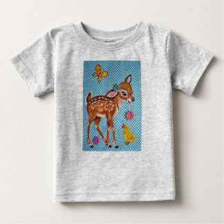 Deer Fawn & Duckling Original Art Kids' T Shirt