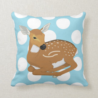 Deer Fawn Polka Dot Accent Pillow