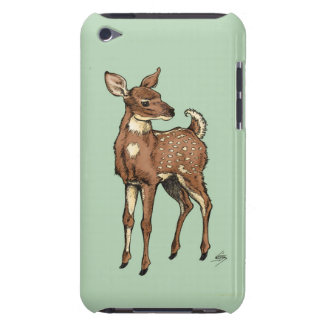 Deer/Fawn with mint background iPod Case-Mate Cases