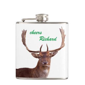Deer flat man hip flask