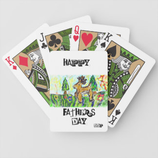 Deer forest art bicycle playing cards