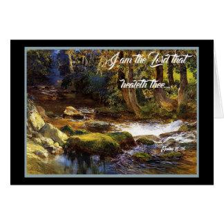 Deer Forest Stream Trees God Heals Card