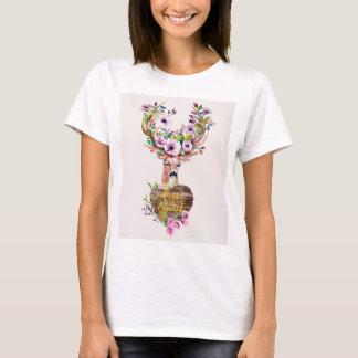Deer Free Spirit Watercolor Design Basic T-Shirt