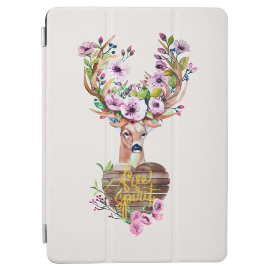 Deer Free Spirit Watercolor Design Ipadair Cover iPad Air Cover
