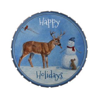 Deer & Funny Snowman Christmas