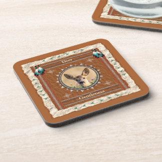Deer -Gentleness- Cork Coaster Set of 6