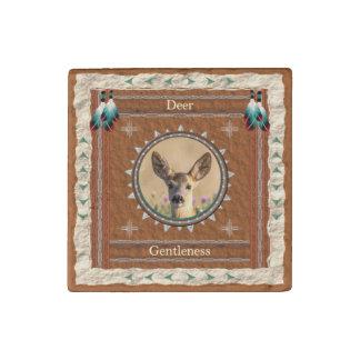 Deer -Gentleness- Primed Marble Magnet
