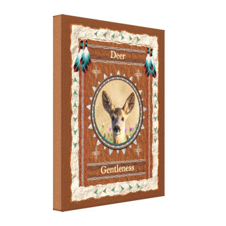 Deer -Gentleness- Stretched Wrapped Canvas