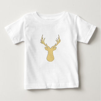 Deer - geometric pattern - beige and white. baby T-Shirt