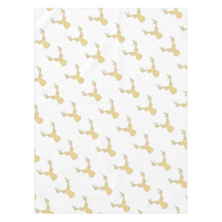 Deer - geometric pattern - beige and white. tablecloth