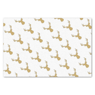 Deer - geometric pattern - beige and white. tissue paper