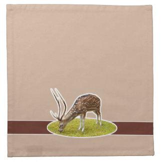 Deer grazing printed napkin