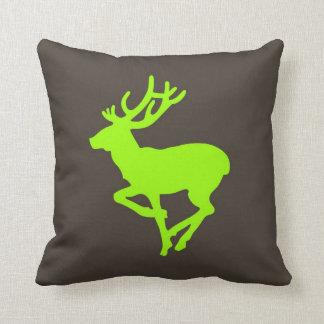 deer green brown pillow