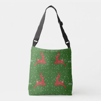 Deer Green Custom All-Over-Print Cross Body Bag