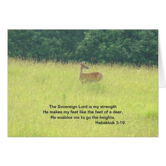 Deer: Habakkuk 3:19 Card