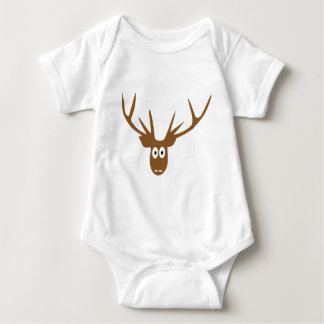 deer head antler baby bodysuit