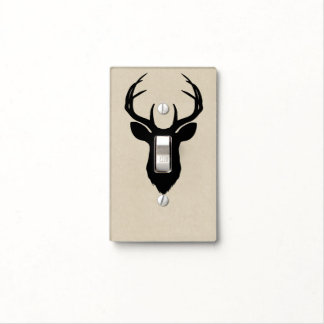 Deer Head Antlers Rustic Country Modern Country Light Switch Cover