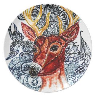 Deer Head Art01 Plates
