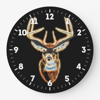 Deer Head Energy Spirited on a Large Clock