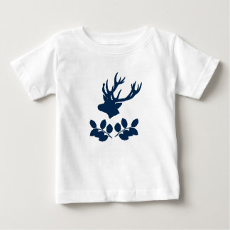 Deer Head Holly branches Baby T-Shirt