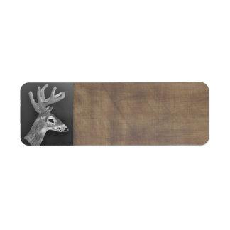 Deer Head label Return Address Label