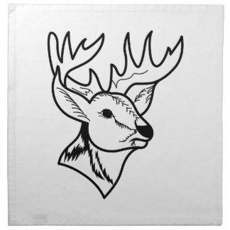 Deer Head Outline Napkins