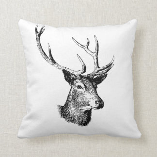 Deer head pillow Animal print decor
