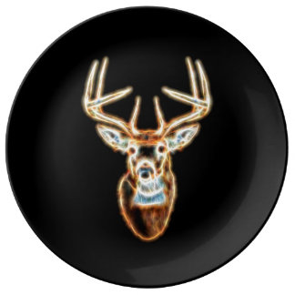 Deer Head pure Energy Spirit Porcelain Plates