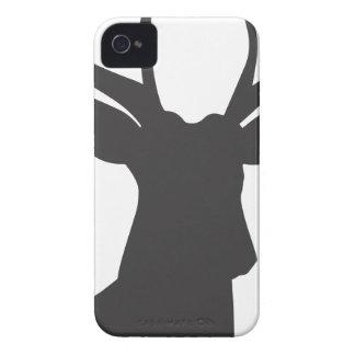 Deer Head Silhouette iPhone 4 Case-Mate Case