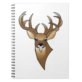 Deer head spiral notebooks