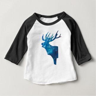 deer head stag in blue baby T-Shirt