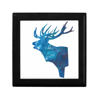 deer head stag in blue gift box