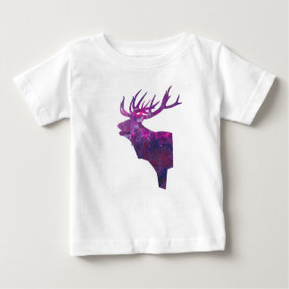 Deer head stag in lilac baby T-Shirt