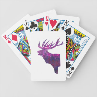 Deer head stag in lilac bicycle playing cards