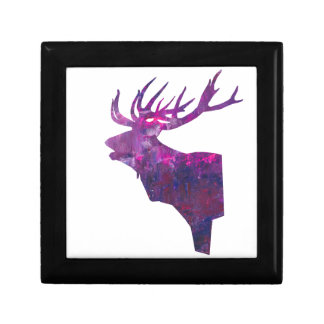 Deer head stag in lilac gift box
